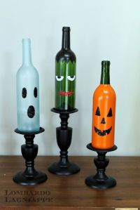 DIY Halloween Wine Bottles by Lombardo Lagniappe