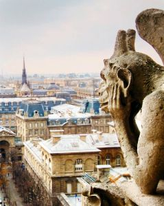 Gargoyles of Notre Dame. Paris, France