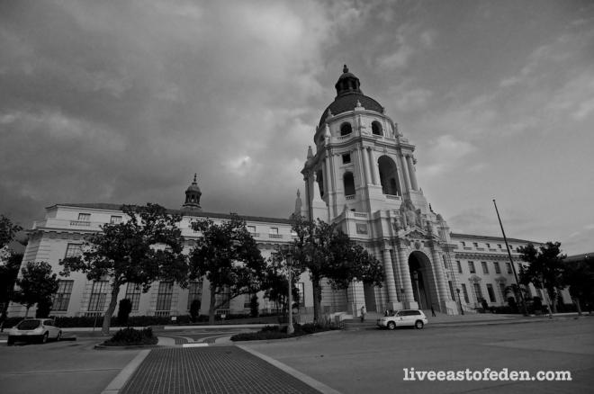Pasadena City Hall - black and white photography