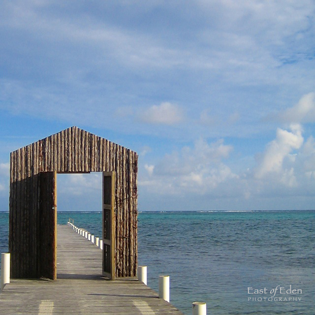 Sitting on the dock of the bay. San Pedro, Belize.