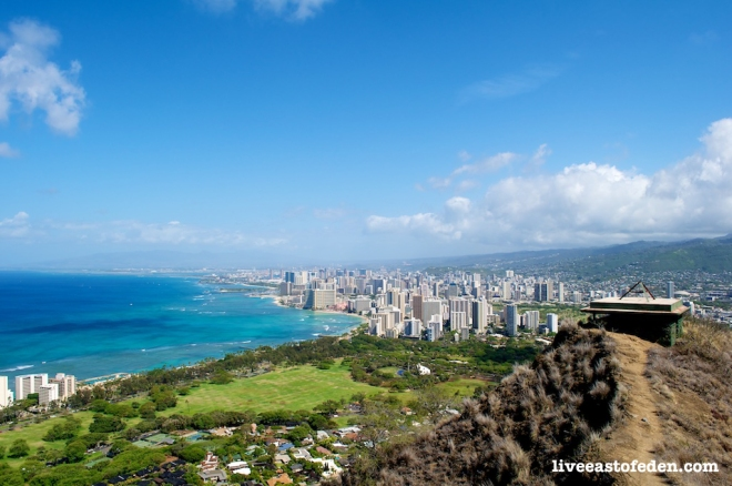 View of Waikiki from Diamond Head Summit